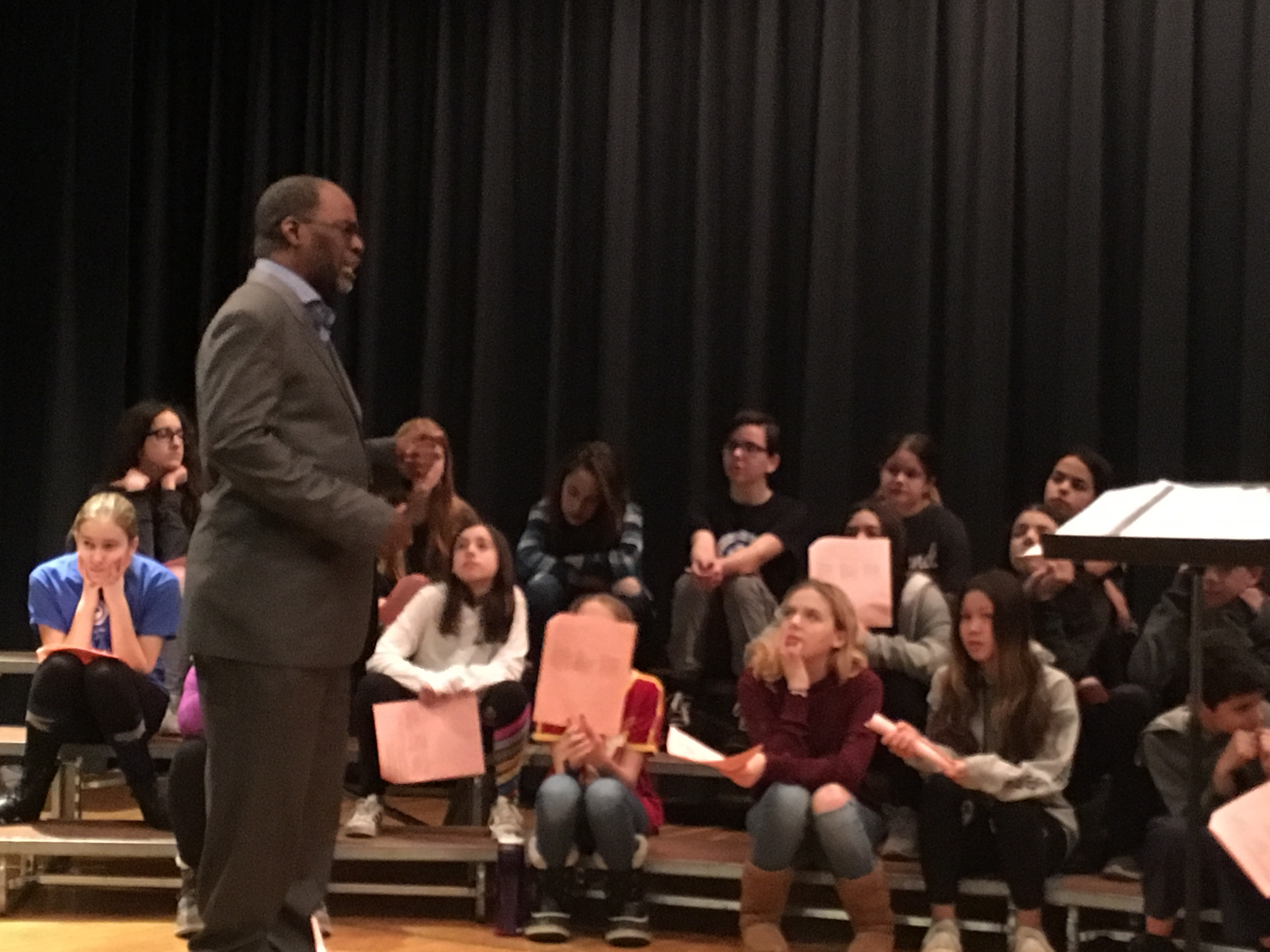 Artist-in-Residence, Byran Johnson, Inspires Choral Students